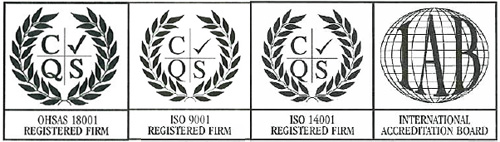 Guildhouse Group ISO accreditation marks 18001, 9001,14001